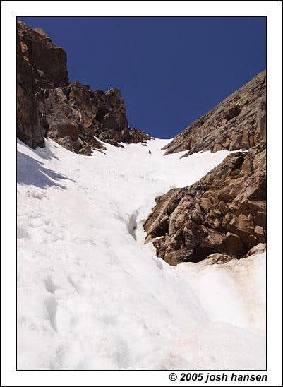 Looking up the Cross Couloir....