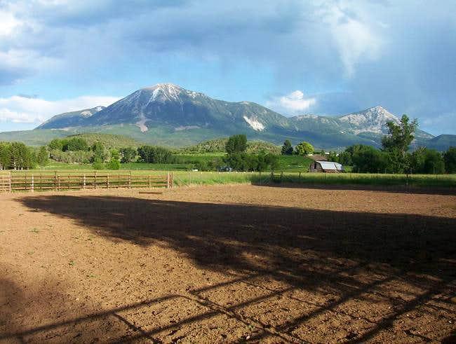 Mt. Lamborn (left) and its...