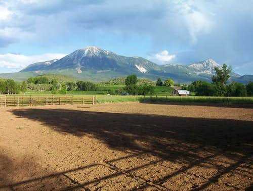 Mt. Lamborn (left) and its...