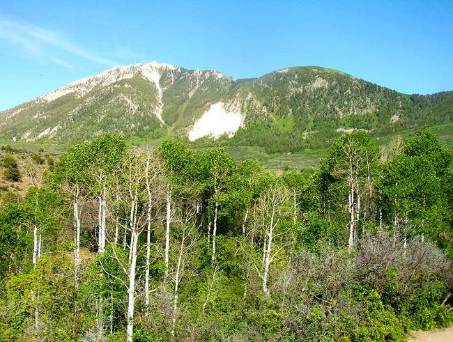 Mount Lamborn seen 4500 feet...