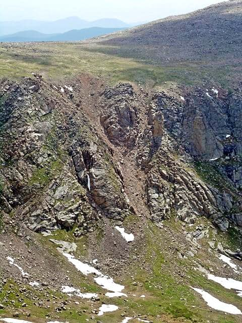 The Gully from the Evans-Epaulet Saddle