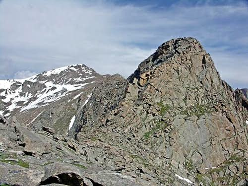 Point 13,641 and Mount Bierstadt