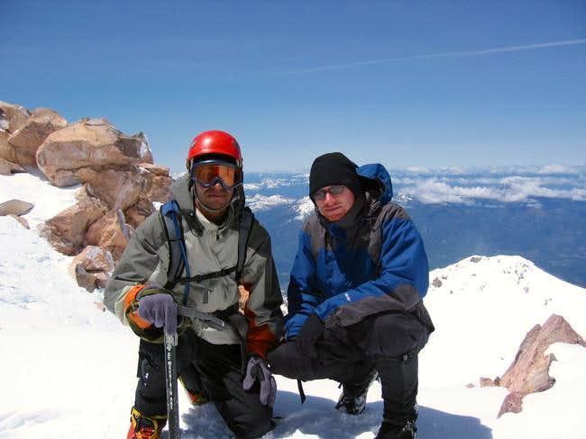 Rishi and I with summit...