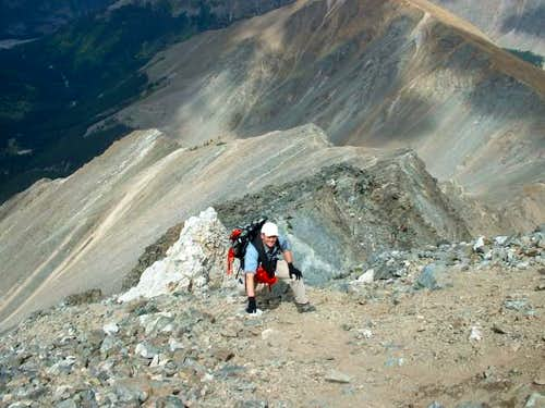 Climbing up Torreys via the...