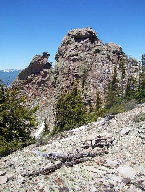 Lamborn's rugged summit block...
