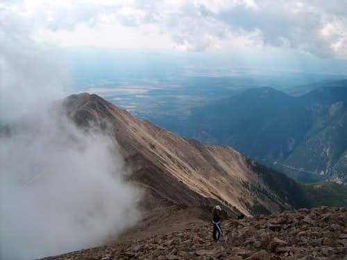 From the summit ridge of Mt....