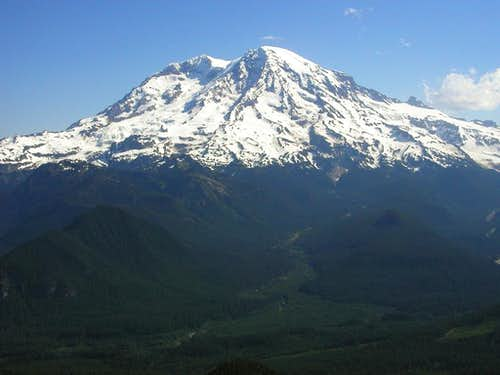 The view of Mt. Rainier from...