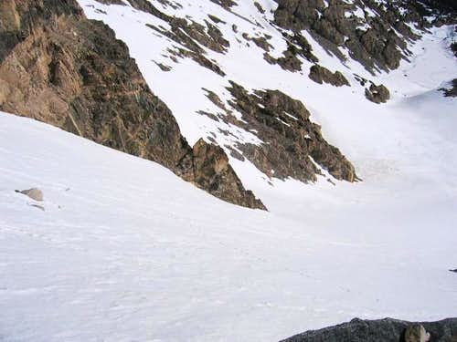 Look down the couloir from...