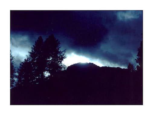 Croda Rossa at sunset, from...
