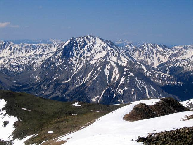 La Plata Peak from the summit...
