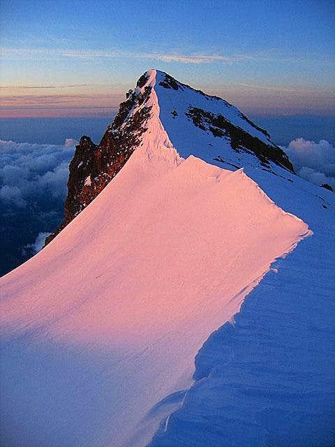 Ridge at 13,000 feet just...