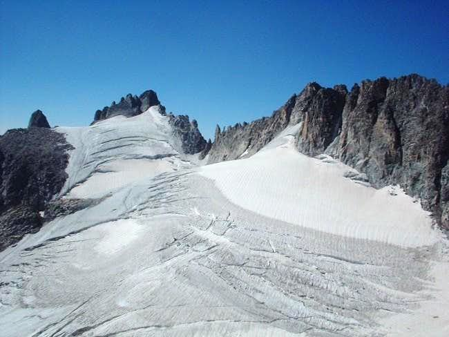 Looking out at Dinwoody glacier
