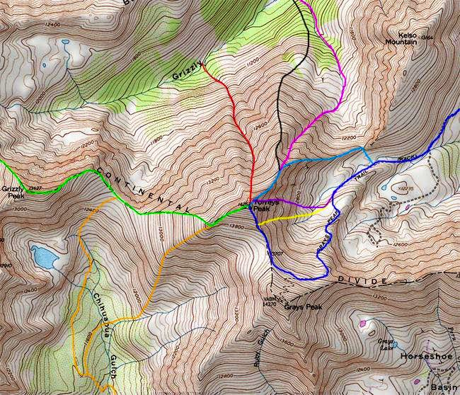 Some of the routes on...