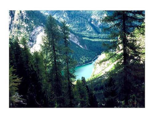 Pragser Lake from SE,...