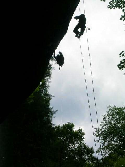 Ascending a rope is fairly...