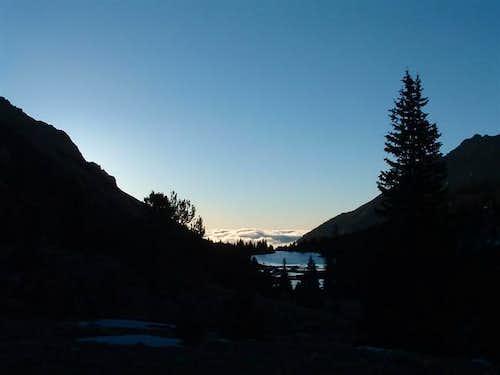 Looking back at Brown's Lake...