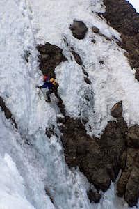 Brian Jenkins climbing the...