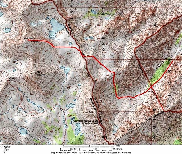 Map of Armstrong Canyon...