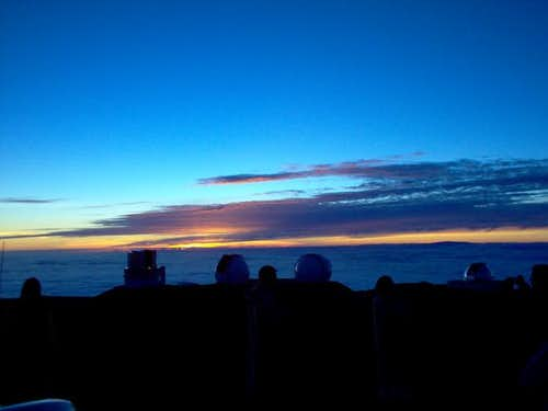 Sunset from the summit -...