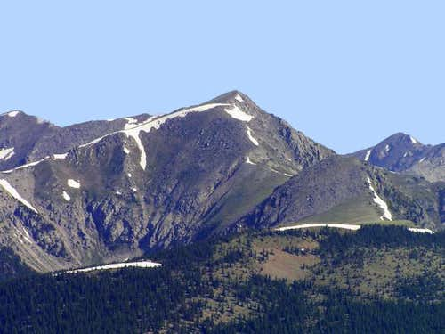 Truchas Peak from East Pecos...