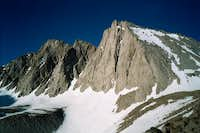 The north face of Mt. Tyndall...