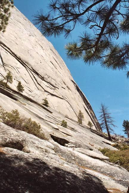 Southeast face of Half Dome...