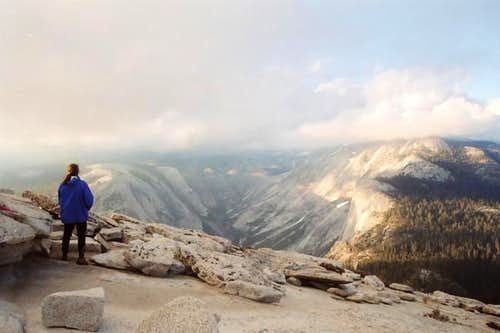 View of Tenaya Canyon and...