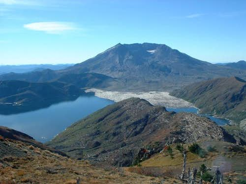 Mt. St. Helens crater from...