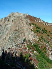 The final ridge to the summit...