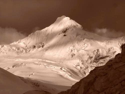 Tocllaraju from High Camp....