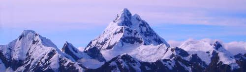 Nevado Huantsan (6395 m) from...