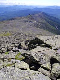 Looking down on Mt. Monroe,...