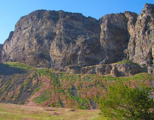 A set of cliffs in Box Canyon...