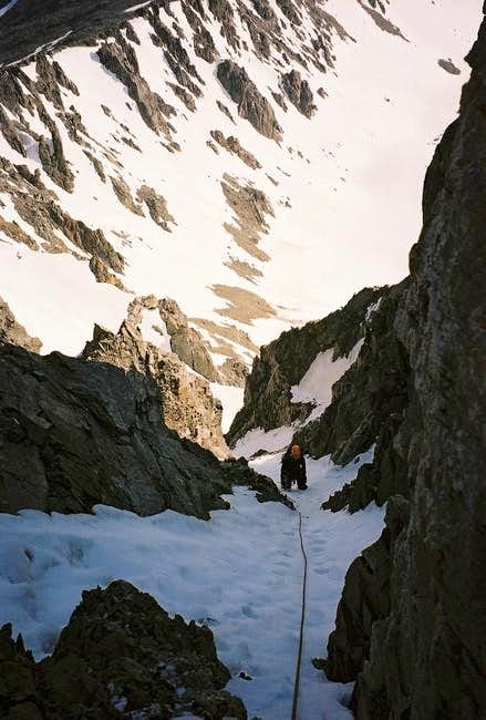 The top section of the steep,...