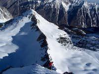Trackhead skiing the N ridge...