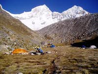 Pisco base camp 4650 mts....