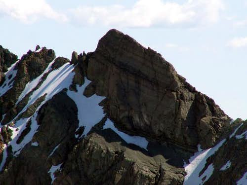 This is an unnamed, unclimbed...