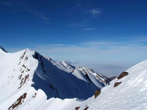 The route to the summit of...