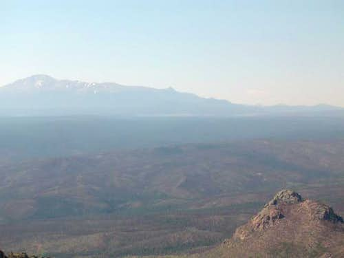 Pikes Peak displays its...