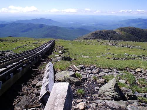 Looking down the Cog Railway...