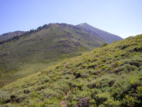 West ridge of Lewiston Peak...