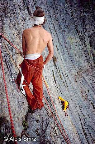 James Weger (belaying) and...