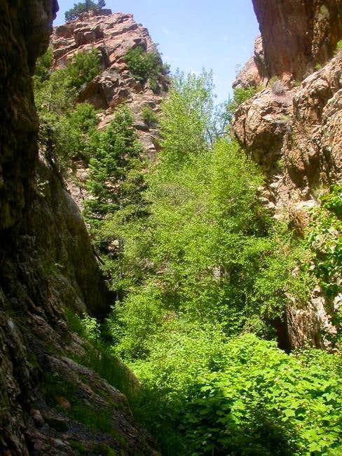 Heughs Canyon narrows to...