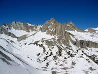 Mount Haeckel (right), the...
