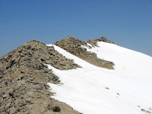 Mount Massive\'s summit ridge...