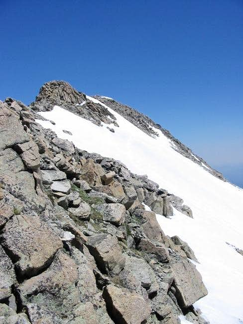 Mount Massive's summit ridge...