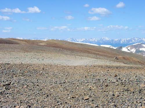 The broad summit plateau of...