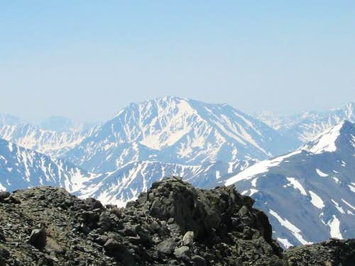 A hazy La Plata Peak, from...