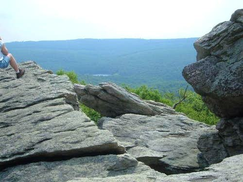 The view from Chimney Rocks...