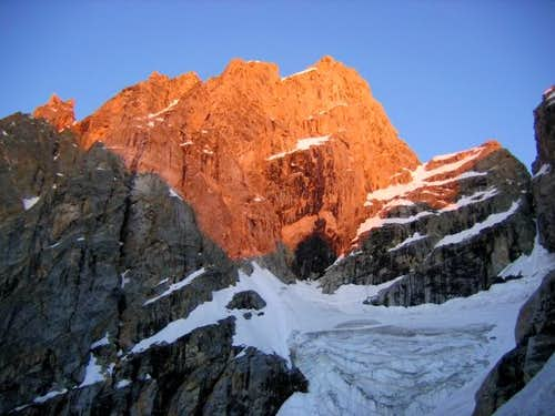 Sunrise on the north face of...